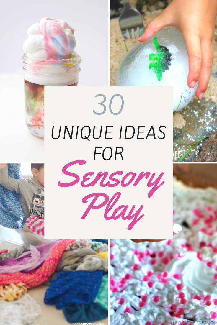 30 Unique Sensory Play Ideas