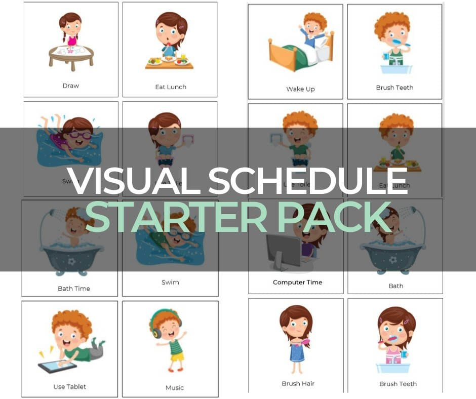 Free Images for Visual Schedule Starter Pack