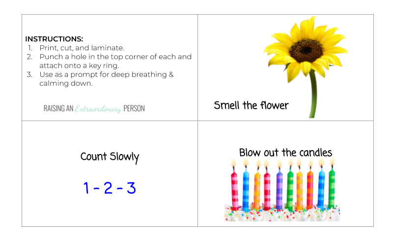 Flower and Candle Breathing Exercise