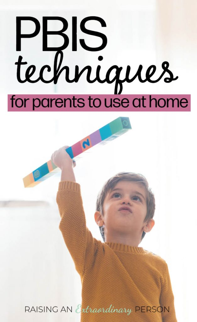 Positive Behavior Interventions and Supports (PBIS) Techniques that Parents can use at home - These evidence based strategies help parents manage challenging behavior in children with ASD in a positive way.
