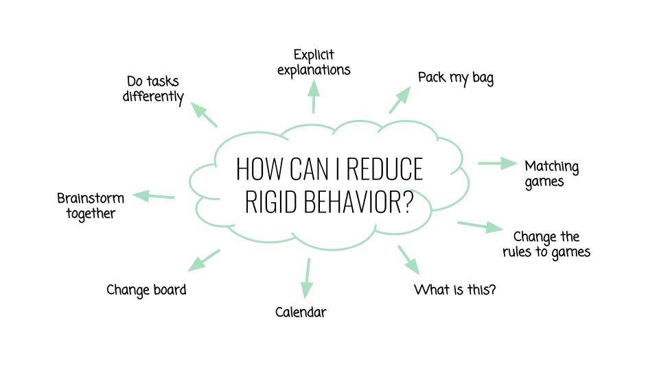 How can I reduce rigid behavior - How to improve cognitive flexibility
