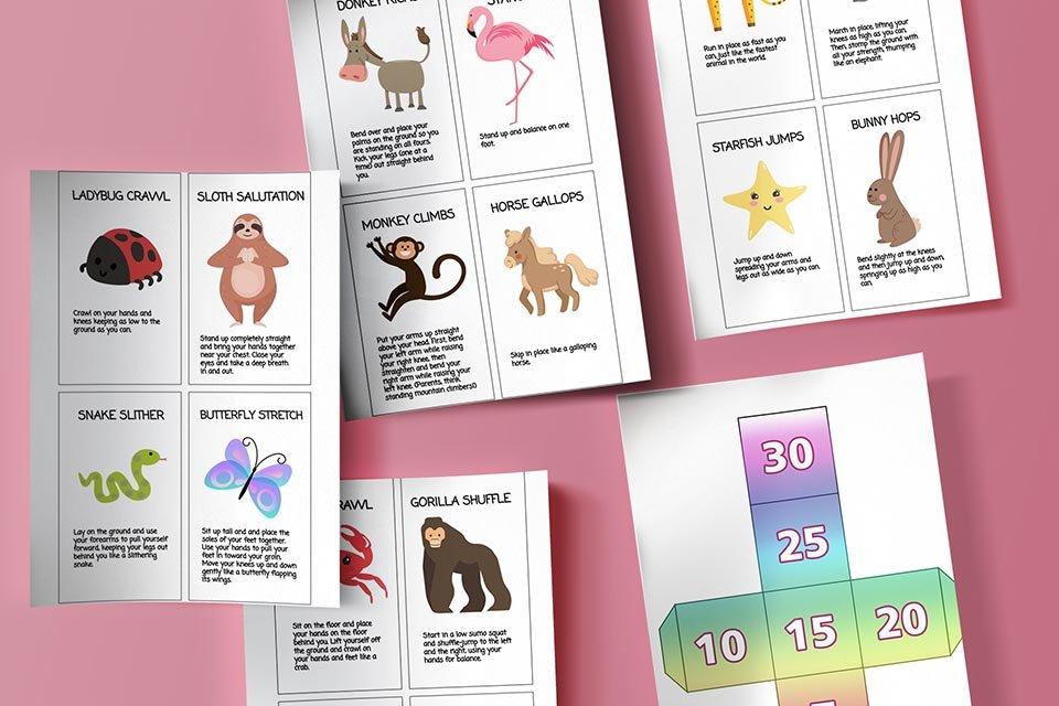 Free printable game for building gross motor skills