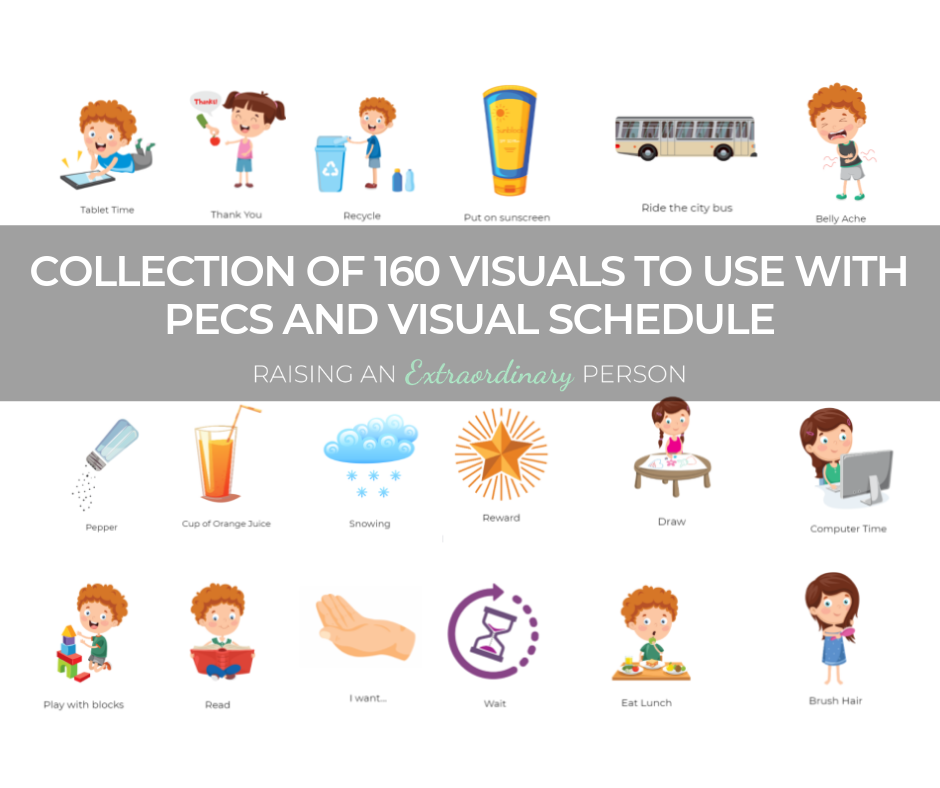 Collection of 160 Visuals to Use with PECS and With Visual Schedules for Children