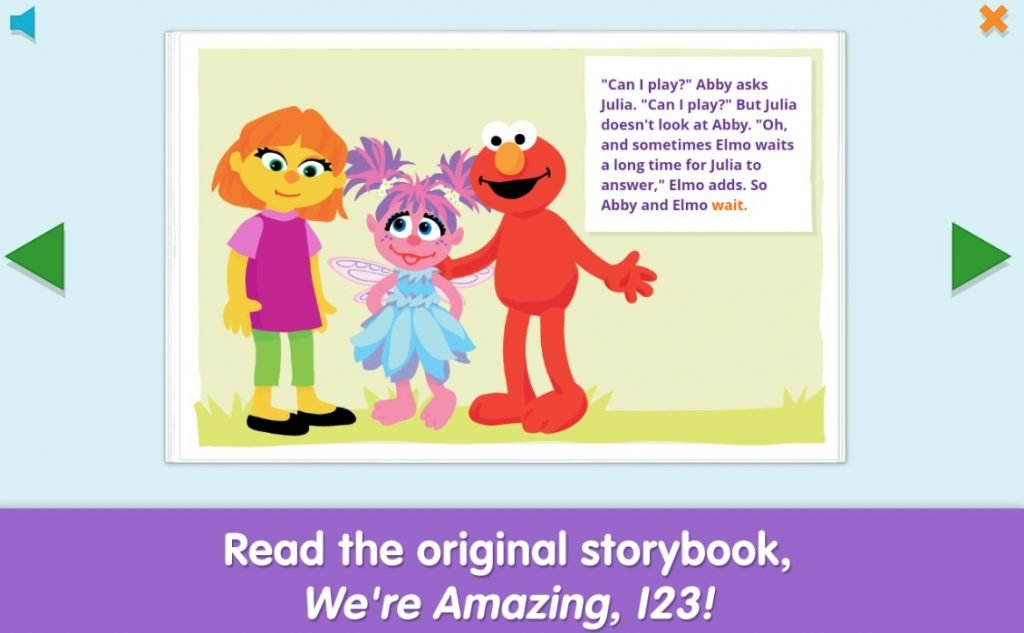 apps for autism - sesame street