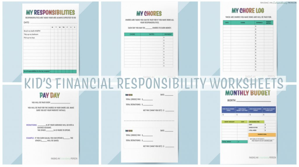 Teaching Kids About Money with Financial Responsibility Booklet - Printable