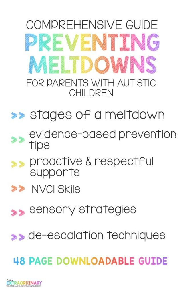 Comprehensive Guide to Preventing Meltdowns for Parents with Autistic Children #Autism #Meltdowns #SelfRegulation