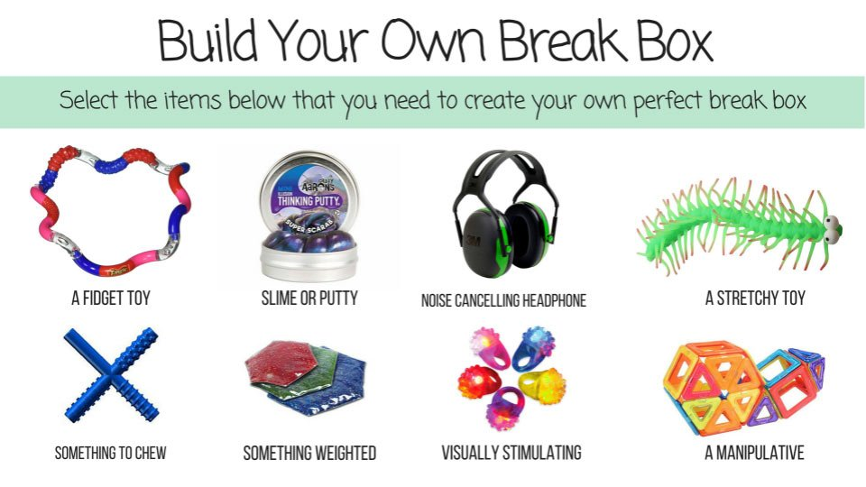 create your own break box to prevent autism meltdowns