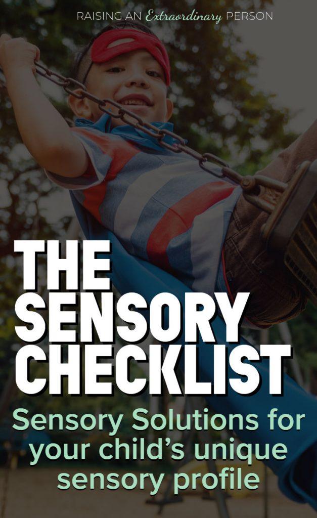 sensory diet activities list