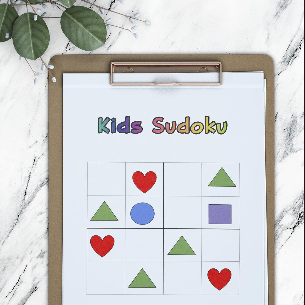 kids sudoku puzzle for working memory