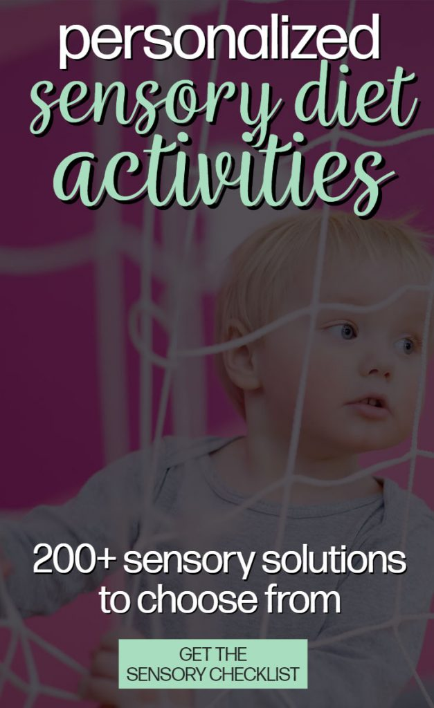 sensory diet activities and check list
