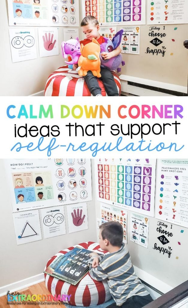 Calm Down Corner Ideas that Support Self-Regulation - Calming Corners teach kids that unpleasant emotions are normal and that they can learn appropriate ways to cope with those feelings.