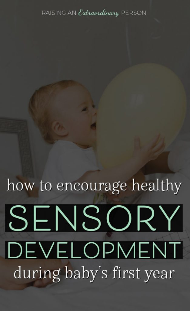 sensory activities for infants - infant sensory development