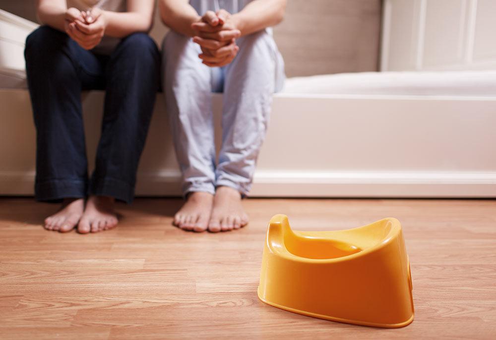 photo of an orange potty