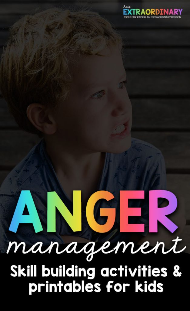 Kids Anger Management - How to teach children healthy anger coping skills #AngerManagement #PositiveParenting #LifeSkills #ADHDKids #Autism #ChildDevelopment #AngerWorksheets #AngerBooks