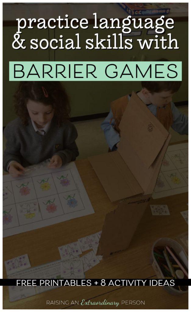 children playing barrier games