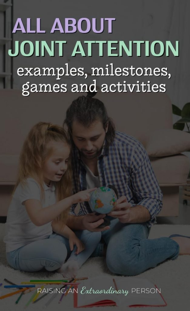 All About Joint Attention - Autism Resources for Parents - Communication Skills - Milestones, Activities, Games and More. #Autism #ASD #SLP #CommunicationSkills #ChildDevelopment