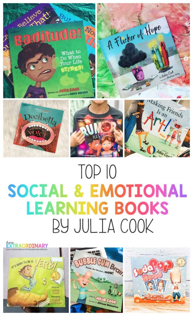 Social & Emotional Learning Books for Kids by Julia Cook  #SocialSkills #SEL #SocialEmotionalLearning