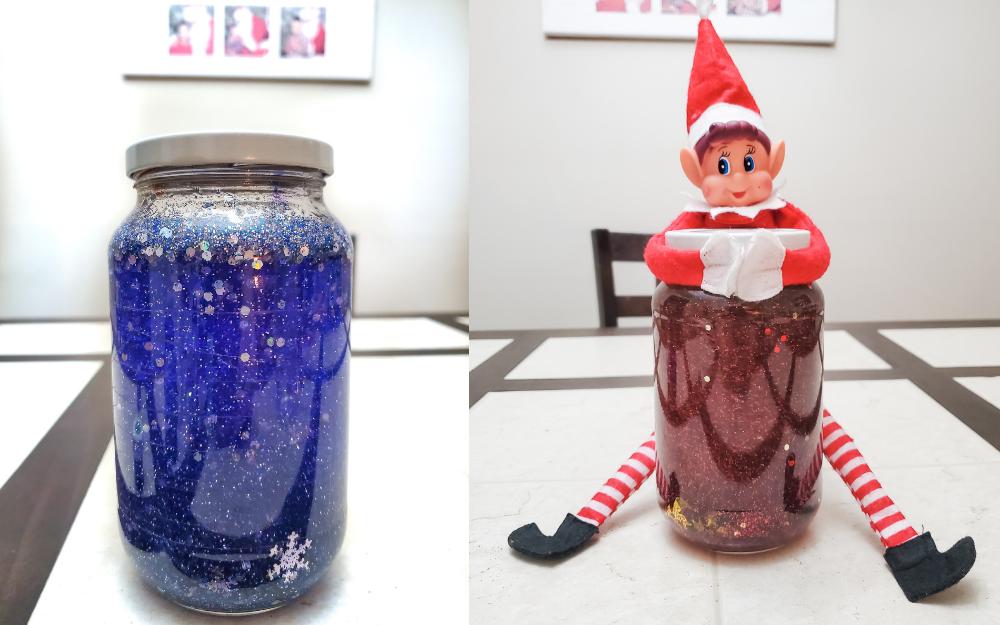 How-to: Winter Glitter Jars