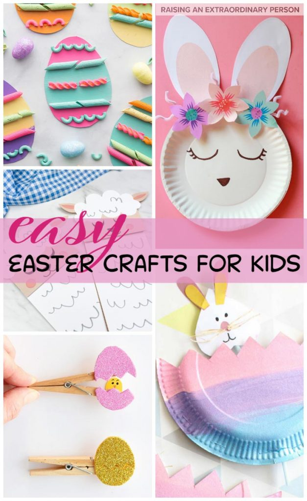 Kids will love these easy and cute easter crafts - parents will love the simplicity of each of these activities #Crafts #EasterCrafts #Easter