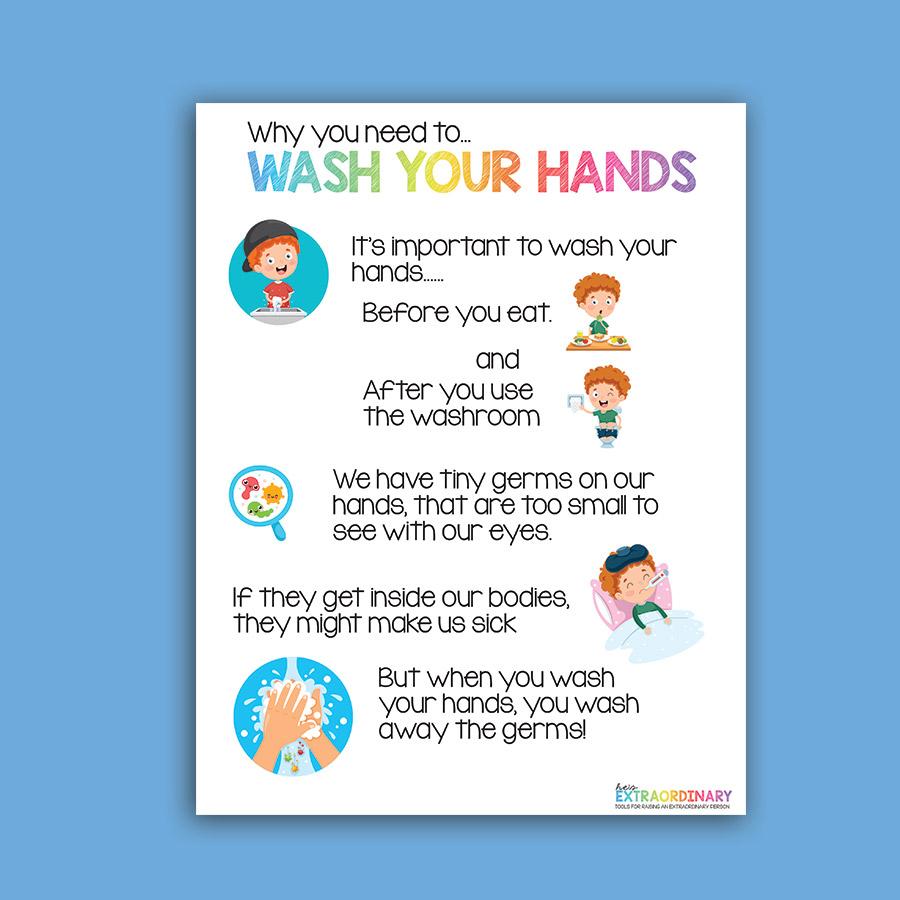 handwashing visuals for kids