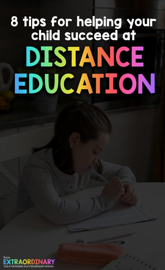 Parents all over the world are entering uncharted territory. I know many of you are trying to work at home, while also homeschool your child or support them through distance education with their school district. How can you help your child find success through distance learning #HomeSchool #LearningAtHome #DistanceEducation #Parenting