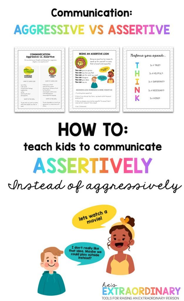 Communication - how to teach kids to communicate assertively instead of aggressively // #SEL #SocialEmotionalLearning #ParentingTips #SocialSkills