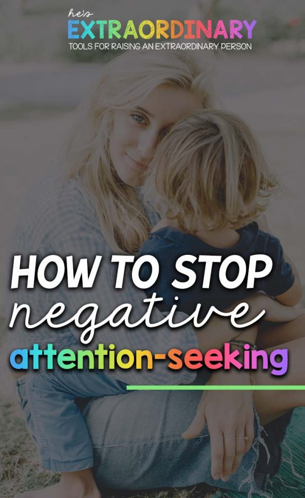 common reasons children engage in inappropriate attention-seeking behaviors, what some of those behaviors are, how to recognize attention-seeking, and short term and long term positive parenting solutions. It also includes some family bonding ideas you can try. #PositiveParenting #FamilyActivities