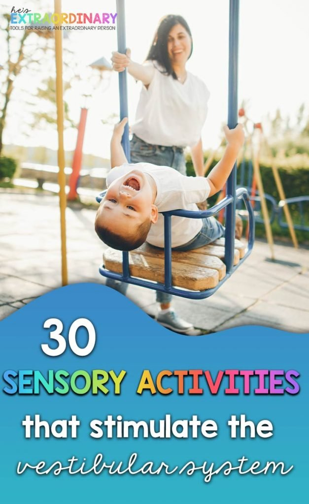 What's inside this article: An in-depth explanation of how the vestibular system works, types of sensory processing issues related to the vestibular system, an explanation of what causes dizziness, and vestibular input activities for children. #SPD #Autism #SensoryProcessingDisorder #SensoryActivities