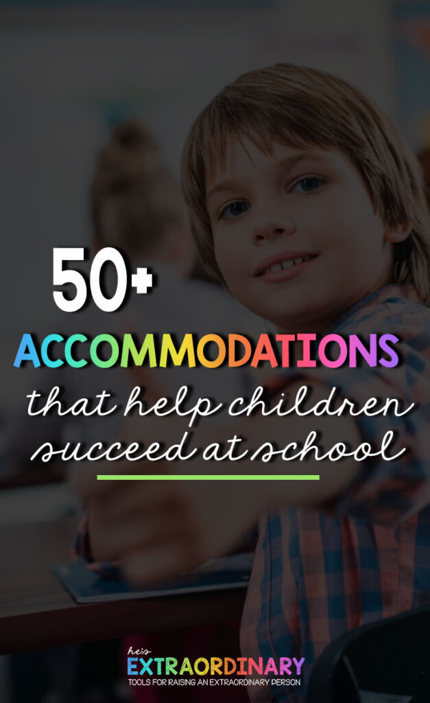 What's inside this article: Student accommodations and solutions to help improve some of the most common challenges faced by children at school. This guide aims to help children find more success at school. #SpecialEd #SPED #Autism #ADHD #SPD #TeachingTips