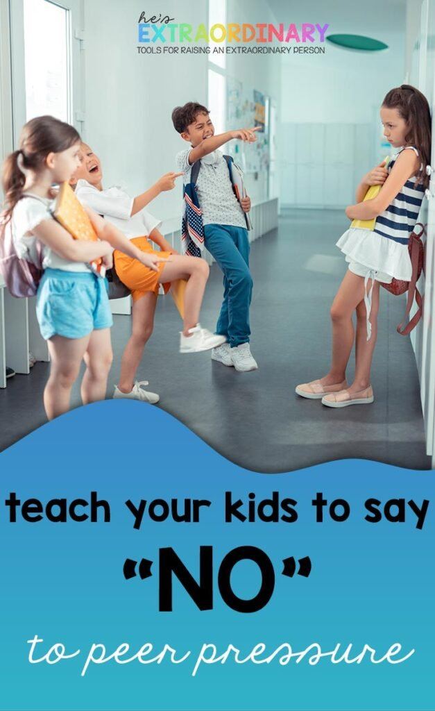 kids using peer pressure and bullying girl