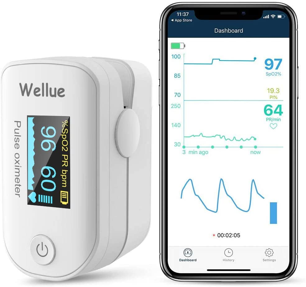 photo of an pulse oximeter from Amazon