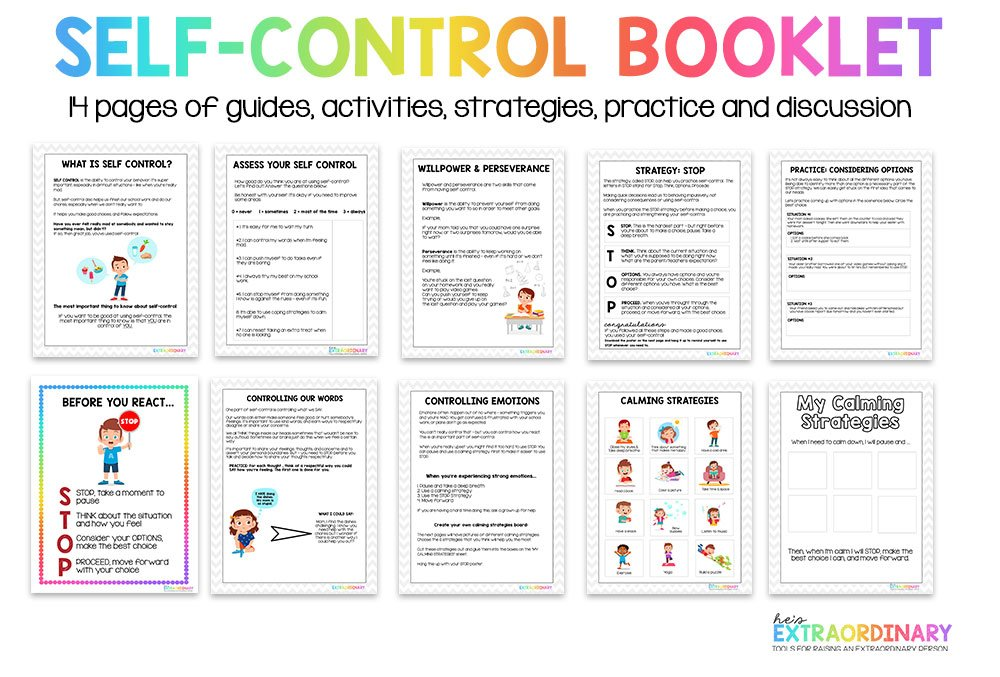 self-control booklet